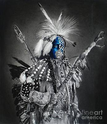traditional dancer Blue Original by Raoul Alburg