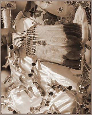 Print featuring the photograph Traditional Dancer In Sepia by Heidi Hermes