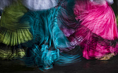 Dancing Photograph - Traditional Dancers by Oscar Gutierrez