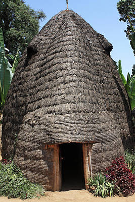 Photograph - Traditional Dorze Hut by Aidan Moran