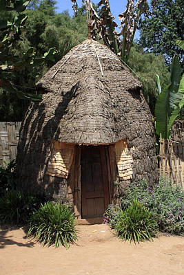 Photograph - Traditional Dorze Hut, Ethiopia by Aidan Moran
