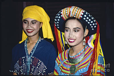 Photograph - Traditional Dressed Thai Ladies by Heiko Koehrer-Wagner