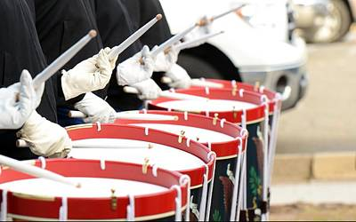 Marching Band Photograph - Traditional Drums by Billy Soden