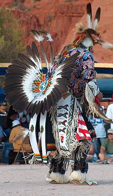 Pueblo Drawing - Traditional Elder Dancer by Tim McCarthy