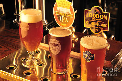Beer Royalty-Free and Rights-Managed Images - Traditional English Beers by Andy Smy