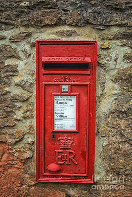 Photograph - Traditional English Postbox by Patricia Hofmeester