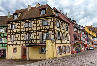 Photograph - Traditional Half-timbered Houses In Colmar, Alsace, France by Elenarts - Elena Duvernay photo