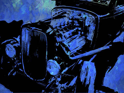 Digital Art - Traditional Hemi Pop Blue by David King