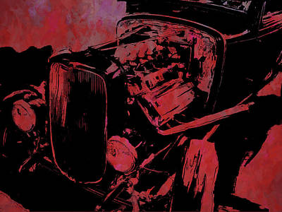Digital Art - Traditional Hemi Pop Red by David King