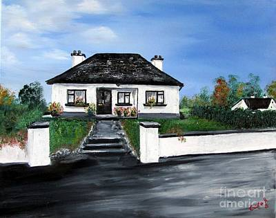 Cottage Painting - Traditional Irish Country Cottage by Corina Hogan