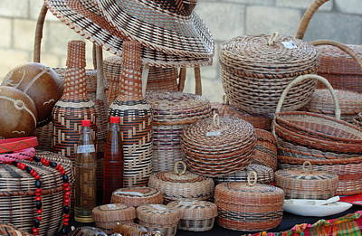 Amerindian Photograph - Traditional Kalinago Basket Craft From Dominica by Tropical Ties Dominica