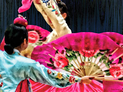 Photograph - Traditional Korean Fan Dance by Susan Savad