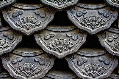 Seoul Photograph - Traditional Korean Roof Tiiles by Alex Barlow