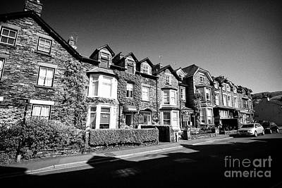 Ambleside Wall Art - Photograph - Traditional Lakeland Stone Houses Now Mostly B And B In Ambleside Lake District Cumbria England Uk by Joe Fox