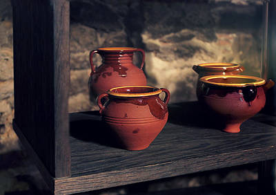 Handmade Hand Made Ceramic Pottery Pot Pots Photograph - Traditional Objects by Rodrigo Carbajal