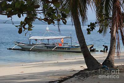 Photograph - Traditional Philippine Fishing Boat by Wilko Van de Kamp