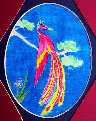 Wall Art - Painting - Traditional Phoenix by Helen Krummenacker