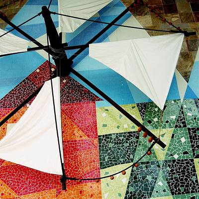 Photograph - Traditional Portuguese Singing Windmill Sails by Dora Hathazi Mendes