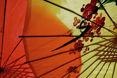 Traditional Red And Yellow Umbrellas Art Print