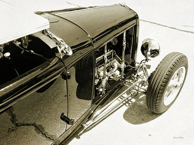 Photograph - Traditional Roadster Bw by David King