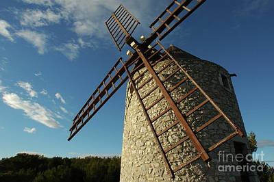 Traditional Stone Windmill In Les Pennes-mirabeau Art Print by Sami Sarkis