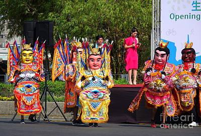 Photograph - Traditional Taiwan Temple Dancers by Yali Shi