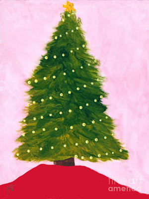 Painting - Traditional Tree With Lights by Maura Satchell