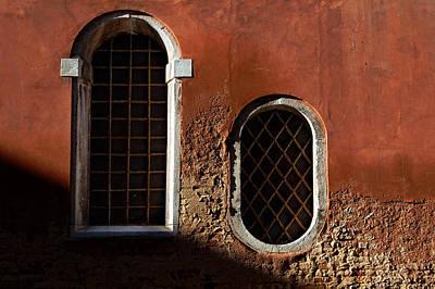 Traditional Venetian Windows Art Print by George Oze