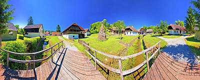 Photograph - Traditional Village Of Kumrovec In Zagorje Region Of Croatia Pan by Brch Photography