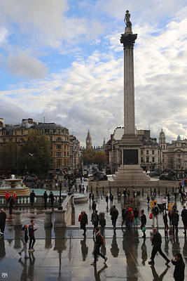 Photograph - Trafalgar After Rain by John Meader