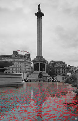Photograph - Trafalgar On The Armistice by John Meader
