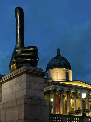 Photograph - Trafalgar Square Fourth Plinth by Steven Richman
