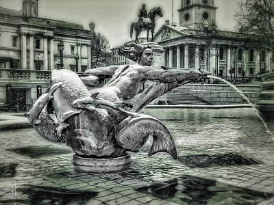 Digital Art - Trafalgar Square by Pennie  McCracken