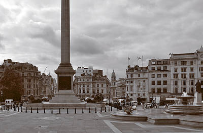 Square Photograph - Trafalgar Square Sunday Morning by Nop Briex