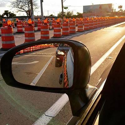 Traffic Barricade, Hollywood, Florida Art Print