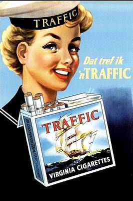 Digital Art - Traffic Cigarette by Reinvintaged