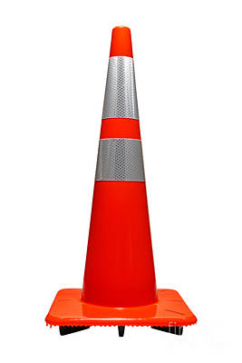 Traffic Cone Art Print by Olivier Le Queinec