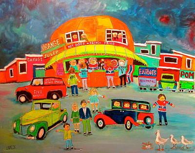 Decarie Painting - Traffic Control Orange Julep by Michael Litvack