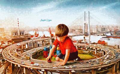 People Painting - Traffic Engineer by Leonardo Digenio