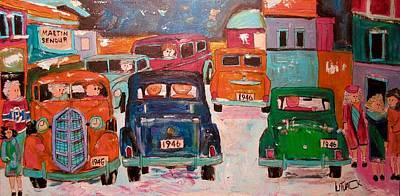 Painting - Traffic Everywhere 1946 by Michael Litvack