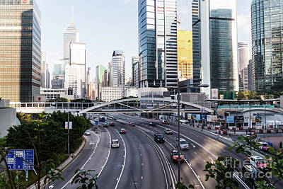 Photograph - Traffic In Hong Kong Central District  by Didier Marti