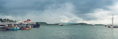 Photograph - Traffic In Oban Harbour  by Ray Devlin