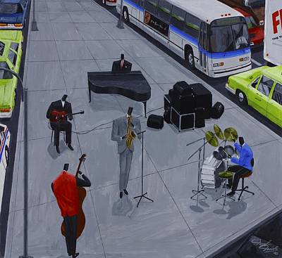 Painting - Traffic Jam by Darryl Daniels