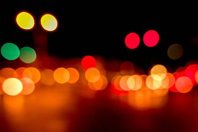 Disk Photograph - Traffic Lights Number 5 by Steve Gadomski