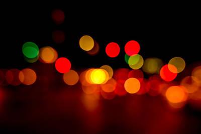 Disk Photograph - Traffic Lights Number 8 by Steve Gadomski
