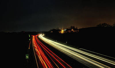 Abstract Movement Photograph - Traffic by Martin Newman