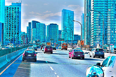 Photograph - Traffic On The Gardiner Expressway by Nina Silver