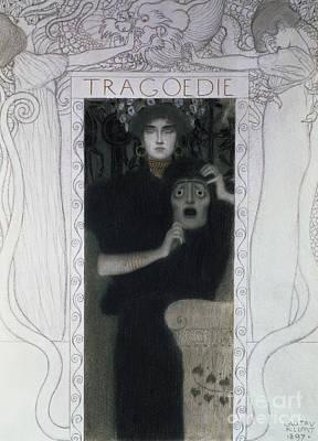 Drawing - Tragedy, 1897  by Gustav Klimt