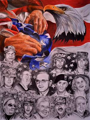 Painting - Tragedy At Fort Hood by Ken Pridgeon