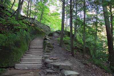 Photograph - Trail At Old Man's Cave by Angela Murdock